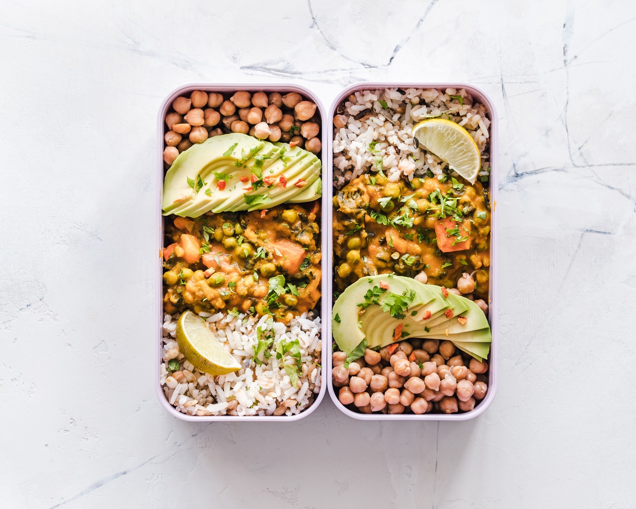 meal prep for healthy lunch