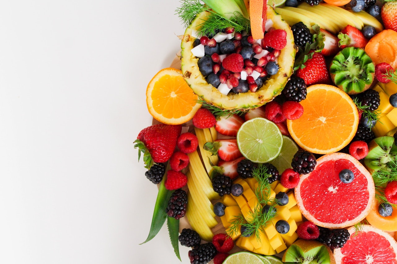 colorful healthy fruit and vegetables